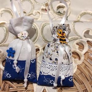Kékfestő levendulával töltött kicsi zsákok, Otthon & Lakás, Dekoráció, Illatzsák, Varrás, 100% levendulával töltött kicsi zsákok. \nA szekrényben kiváló molyűző, a lakásban kiakasztva illatos..., Meska