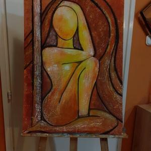 Festmény dimenziós, Művészet, Festmény, Akril, Festészet, Akril festmény farostra mérete: 50x70 cm enyhén dimenziós, nem sík felületen, Meska