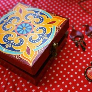 Mandala ékszerdoboz, Otthon & Lakás, Dekoráció, Festett tárgyak, Meska