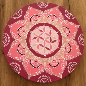 Élet virága mandala (25 cm) - Meska.hu