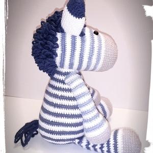 Zou a nagyon laza zebra fiú- amigurumi - játék & gyerek - plüssállat & játékfigura - más figura - Meska.hu