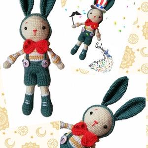 Miti tavaszi virgonc ruhában - horgolt amigurumi nyuszi, Játék & Gyerek, Plüssállat & Játékfigura, Nyuszi, Horgolás, Varrás, Meska