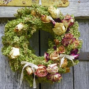 Romantika- ajtódísz,kopogtató,falidísz, koszorú, Ajtódísz & Kopogtató, Dekoráció, Otthon & Lakás, Virágkötés, Mindenmás, Romantikus hölgyeknek,-ünnepi ajándéknak, ( házavató,..vagy csak vintage szobát disziteni ajánlom.\n ..., Meska