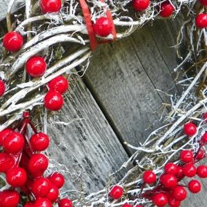 Téli bogyós ajtódísz,koszorú,kopogtató (galamb70) - Meska.hu