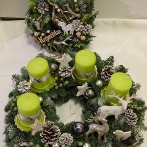 RENDELHETŐ-ADVENTI,karácsonyi, ajtódísz,asztaldísz,koszorú,kopogtató, Karácsony & Mikulás, Adventi koszorú, Virágkötés, Mindenmás, Egyedi,-Kivánságra bármilyen  szinű,méretű,adventi koszorút készitek.Kérlek  időben rendelj,az adott..., Meska