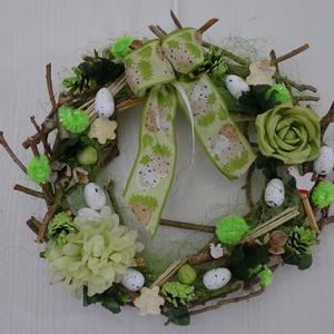 ÁGAS-BOGAS..tavaszi,húsvéti ajtódísz,kopogtató,koszorú, Dekoráció, Otthon & lakás, Lakberendezés, Húsvéti díszek, Ünnepi dekoráció, Ajtódísz, kopogtató, Virágkötés, Ahogy éled a természet , a zöldellő fű, a fák rügyei, a madár csicsergést  hallani,- itt a tavasz ,-..., Meska