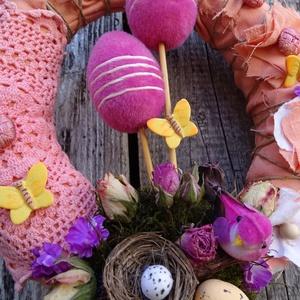 ITT A TAVASZ-színes húsvéti-tavaszi ajtódísz,koszorú,kopogtató (galamb70) - Meska.hu