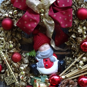 ARANY-Ünnepi Karácsonyi,adventi koszorú,kopogtató, ajtódísz (galamb70) - Meska.hu