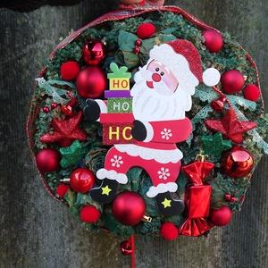 tÉLAPÓ karácsonyi-adventi ajtódísz,koszorú,kopogtató, Otthon & Lakás, Karácsony & Mikulás, Karácsonyi kopogtató, Virágkötés, adventi  ,karácsonyi ajtódísz díszítheti otthonod TÉLAPÓVAL\nméret 30cm, Meska