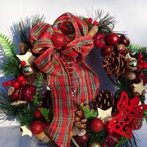 SKANDINÁV karácsonyi, téli ajtódísz,koszorú.kopogtató, Karácsony, Adventi ajtódísz, Adventi díszek, Virágkötés, Meska