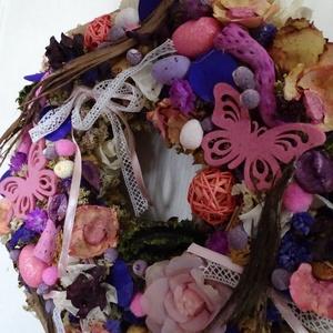 Rózsaszín világ --tavasz-nyári koszorú,ajtódísz,kopogtató, Dekoráció, Otthon & lakás, Dísz, Lakberendezés, Ajtódísz, kopogtató, Virágkötés, Tavasz-nyár lakásdekoráció\n\n\n\nméret 30cm\n\n, Meska