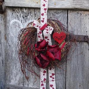 Hatalmas szívem. ROMANTIKUS,rusztikus,csupa szív:ajtódísz,koszorú,kopogtató,falidísz(nagy méret), Otthon & Lakás, Dekoráció, Ajtódísz & Kopogtató, Virágkötés, Meska