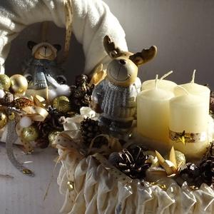 Karácsonyi ,adventi,téli ajtódísz,asztaldísz szett - Meska.hu
