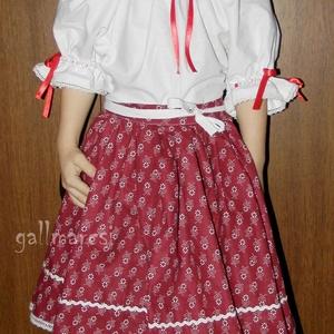 Pörgős szoknya /több szín, több méret/; néptánc, népi táncos szoknya (gallmarcsi) - Meska.hu