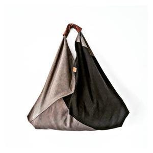 Big 3, Táska, Divat & Szépség, Táska, Válltáska, oldaltáska, Szatyor, Origami zsák táska, bőr füllel és bőr összekötővel. A táska alkalmas mindennapi használatra vagy bev..., Meska