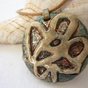 Emlék a tengerről  -  raku kerámia nyaklánc (ékszer) - ékszer - nyaklánc - medálos nyaklánc - Meska.hu