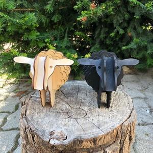 Fa bárányok, fekete és natúr színben (Garden) - Meska.hu