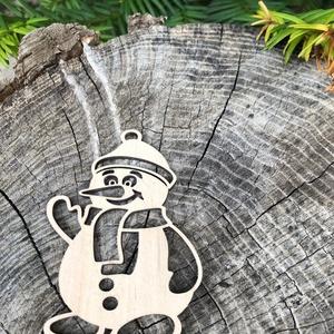 Karácsonyi mikulás fából, Dekoráció, Otthon & lakás, Ünnepi dekoráció, Karácsony, Karácsonyi dekoráció, Karácsonyfadísz, Famegmunkálás, Karácsonyi mikulásdísz fából, rétegelt lemezből, mindkét oldalán csiszolt, natúr színben. 8 db / cso..., Meska