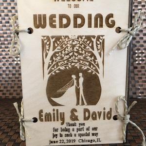 Esküvői asztal, ültetőkártya, menüsor, asztaldísz, Esküvő, Esküvői dekoráció, Meghívó, ültetőkártya, köszönőajándék, Famegmunkálás, Időt és pénzt takaríthat meg ezzel a szép esküvői asztallal! Ennek a terméknek több funkciója van - ..., Meska