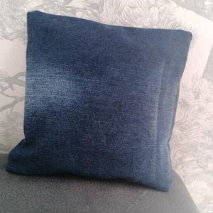 Relax alvássegítő levendulával töltött párna levehető mosható huzattal középkék, Otthon & Lakás, Párna & Párnahuzat, Lakástextil, Varrás, Újrahasznosított alapanyagból készült termékek, Meska