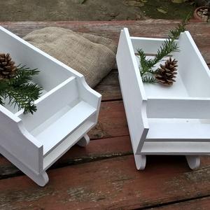 Télapó szánkója -ajándékoknak, tároló, téli dekoráció, karácsonyi dísz, Karácsony & Mikulás, Adventi naptár, Varrás, Ezek a szánkók megrendelésre készültek, \nHa hasonlót szeretnél kérlek küldj üzenetet Számomra\nés meg..., Meska