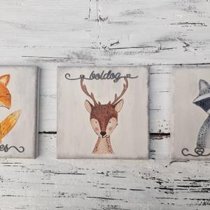 Különleges mosoly- festett fali képek szettben (garievi) - Meska.hu