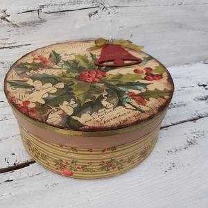 LEÁRAZVA! Karácsonyi mézes -kalapdoboz-dísz, ajándékdoboz esküvőre, szülinapra (garievi) - Meska.hu
