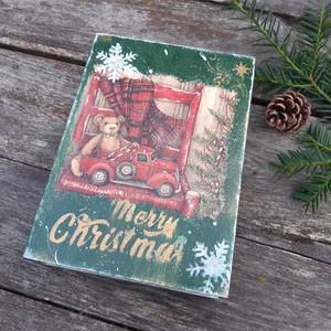 Karácsonyi mese- Mikulásra, Adventre csokis doboz., karácsonyi meglepetés doboz, Otthon & Lakás, Karácsony & Mikulás, Karácsonyi dekoráció, Decoupage, transzfer és szalvétatechnika, Festett tárgyak, Akár a Mikulás is az ablakba teheti meglepetéssel a gyerekek részére, de a karácsonyfa alá is kerülh..., Meska