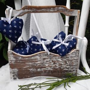 Esküvői levendulás  szív,  dekoráció, akasztós dísz, ajándék, Esküvő, Emlék & Ajándék, Nászajándék, Varrás, Meska