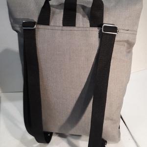 Kockás-szürke vízálló roll up hátizsák (GavrisBag) - Meska.hu