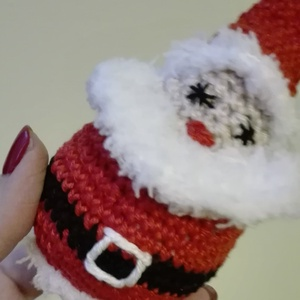 """Mikulás/Télapó, Mikulás, Karácsony & Mikulás, Otthon & Lakás, Horgolás, Hímzés, Kabalaként, karácsonyi kísérő ajándékként, karácsonyfa dísznek, vagy \""""csak úgy\"""" mikulás-napi kedvenc..., Meska"""