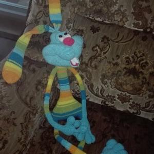 Óriás nyúl - Dude Rabbit, Nyuszi, Plüssállat & Játékfigura, Játék & Gyerek, Horgolás, Varrás, Nagy kedvenc, gyerekek és felnőttek körében is ez az óriás nyuszi. Minden részében hajlik, így külön..., Meska