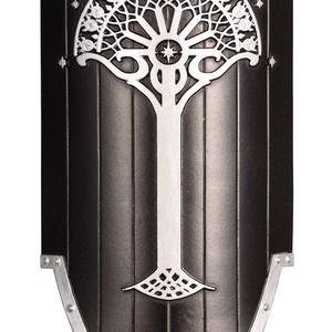 Numenor mini pajzs, Gyűrűk Ura, A hobbit, falidísz, Gondor, Aragorn, szülinap, ajándék, Otthon & Lakás, Dekoráció, Falra akasztható dekor, Festett tárgyak, Szobrászat, A Numenor mini pajzs a Gyűrűk Ura könyvekhez és filmekhez kapcsolódik. Egyedi, kézzel készült műgyan..., Meska