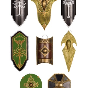 Mini pajzs kollekció, Gyűrűk Ura, A hobbit, falidísz, szülinap, ajándék, Gondor, tünde, Rohan, Mirkwood, Thorin, Numenor, Otthon & Lakás, Dekoráció, Falra akasztható dekor, Festett tárgyak, Szobrászat, A mini pajzs kollekció (8) a Gyűrűk Ura könyvekhez és filmekhez kapcsolódik. Egyedi, kézzel készülte..., Meska