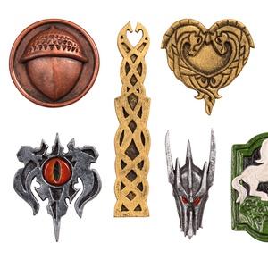 Hűtőmágnes kollekció, Gyűrűk Ura, A hobbit, szülinap, ajándék, Gondor, Mória, makk, Rohan, Sauron, Otthon & Lakás, Konyhafelszerelés, Hűtőmágnes, Festett tárgyak, Szobrászat, A hűtőmágnes kollekció a Gyűrűk Ura könyvekhez és filmekhez kapcsolódik. Egyedi, kézzel készültek mű..., Meska