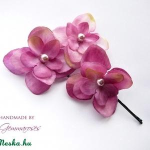 Rózsaszín virág-szett (gemma) - Meska.hu