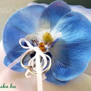 Kék orchidea gyűrűpárna (gemma) - Meska.hu