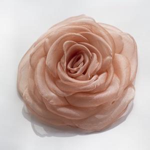 Barackos  rózsa - kitűző/hajcsat (gemma) - Meska.hu