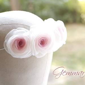 Rózsaszín virágkoszorú (gemma) - Meska.hu