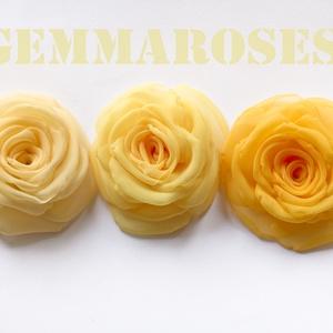 Sárga rózsa -szett(3db) (gemma) - Meska.hu