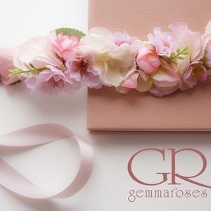 Virágkoszorú vegyes virágokkal (gemma) - Meska.hu