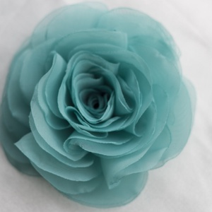 Türkiz stilizált rózsa  (gemma) - Meska.hu
