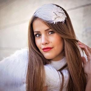 Fehér hattyú fejdísz (gemma) - Meska.hu