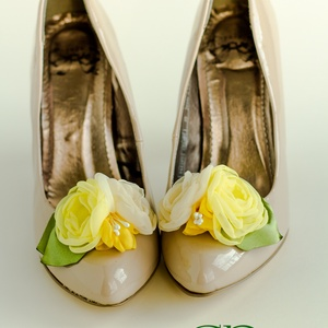 Sárga bokréta cipőklipsz (gemma) - Meska.hu