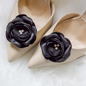 Fekete cipőklipsz  (gemma) - Meska.hu
