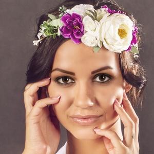 Virágkoszorú, Gyerek & játék, Esküvő, Koszorúslányoknak, menyasszonyoknak vagy akár fotózási kelléknek ajánlom ezt a virágkoszorút. Részbe..., Meska