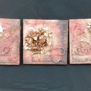 3 textilkép , Képzőművészet, Otthon & lakás, Szobor, Textil, Szobrászat, Ez a három textilkép együtt lett tervezve, és kivitelezve.\nFa keretere lettek rádolgozva.\n A fotón ö..., Meska