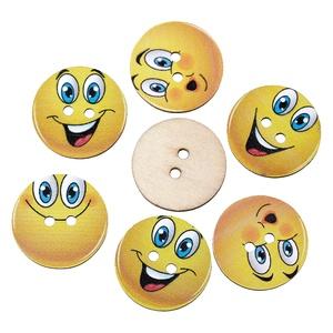 Smiley kerek fa gomb vegyesen , Dekorációs kellékek, Gomb, Varrás, Mindenmás, Gomb, Smiley kerek fa gomb vegyesen\nMérete: 24 mm\n10 db / csomag\nÁra: 350 Ft/csomag (35 Ft/db)\nA termékekr..., Meska