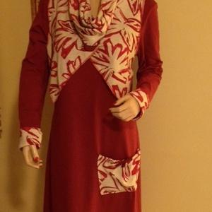 Akiós !!!! Lagenlook ajándékkal !, Táska, Divat & Szépség, Női ruha, Ruha, divat, Ruha, Varrás, Legyen tiéd ez a  ruha amit kiváló minőségű pamut anyagból készítettem.Rendkívül mutatós a színben h..., Meska