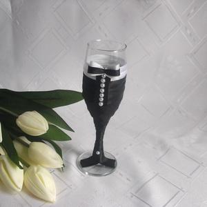 Esküvői pohár szett,gyöngyös (gervera) - Meska.hu